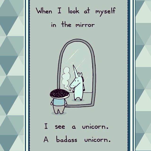 Who said #unicorns need to be cute #cute and #lovelie? Let's be a #badass #unicorn ??✨