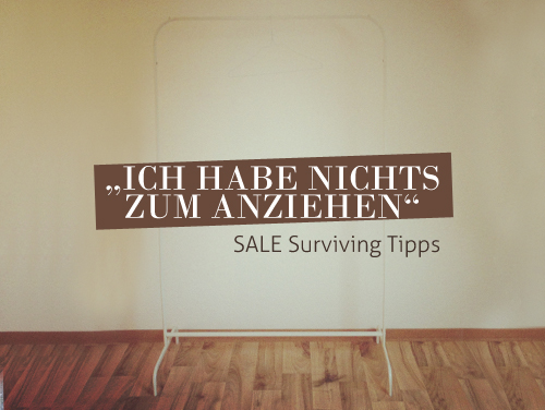 SALE Surviving Tipps