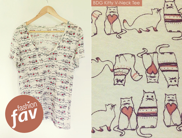 fashionfavBDG Kitty V-Neck Tee